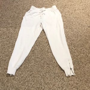 White Aerie Joggers